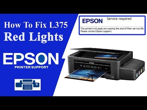 Epson L375 Resetter || Service Required || Printing Errors