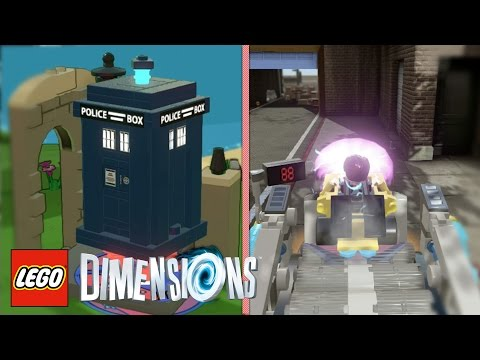 LEGO Dimensions - ALL Tardis and DeLorean Locations (To Date, 2016)