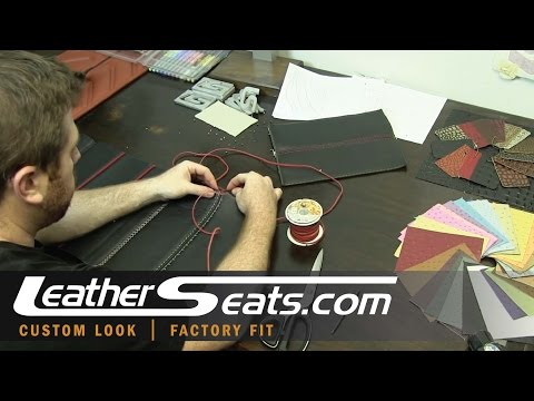 boutique upholstery seam options for custom leather interior conversion kits - LeatherSeats.com