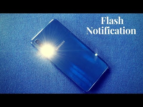 How To Enable Flash Notification In Samsung Galaxy A7 (2018)