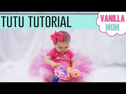 DIY No Sew Tutu Tutorial | For Baby Girl, Halloween, Dress Up Play, etc