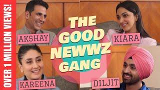 Akshay Kumar, Kareena Kapoor, Diljit Dosanjh, Kiara Advani with Rajeev Masand I Good Newwz