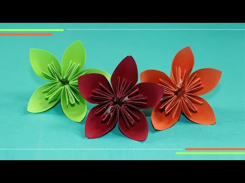 Origami Kusudam Flower: How to Make Paper Flowers, Easy for Beginners