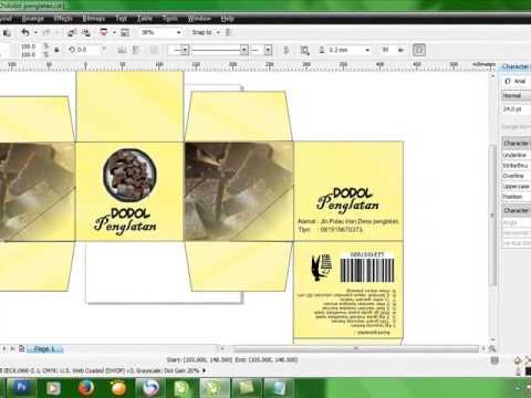 Cara membuat Design Packaging Dengan Corel Draw