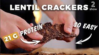High-Protein Lentil Crackers - Vegan Fitness Recipe