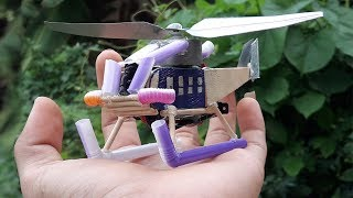 How to make a helicopter by using ice cream wood  Very Simple hand made