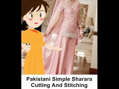 Pakistani Simple Sharara Cutting And Stitching - Tailoring With Usha