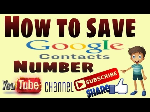 How to Save Google Contacts Numbers||Tech !dea||by Anuj Kumar||