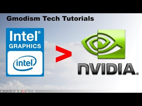 [OLD VERSION] How to switch from Intel HD graphics to dedicated Nvidia graphics card.