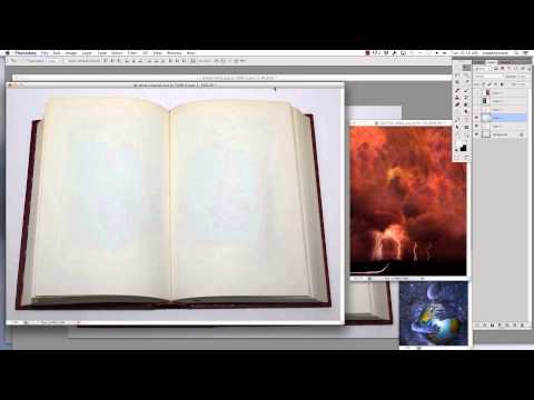 Photoshop Tutorial - How to Make Your Images Look Like Pages In A Book (Part 1 of 2)