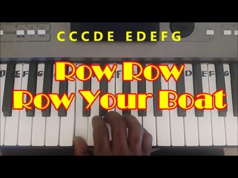 Row Row Row Your Boat Easy Piano Keyboard Tutorial