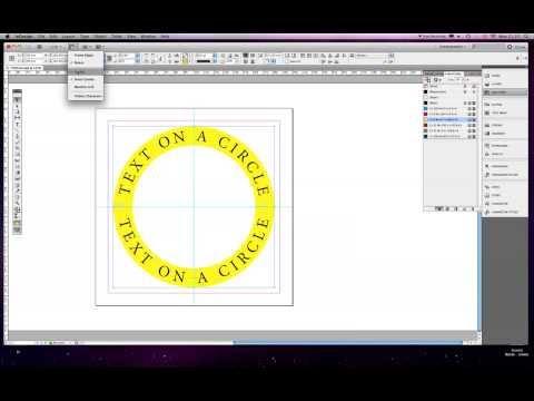 Text around a circle tutorial -  Indesign CS5