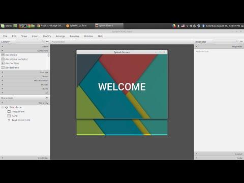 JavaFX Splash Screen / Welcome Screen  (Inside Same Window)