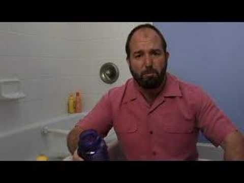 How to Clean Poop in the Tub - Video