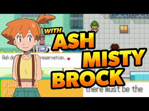 COMPLETED POKEMON GBA ROM HACK WITH ASH, BROCK & MISTY!! 2018!