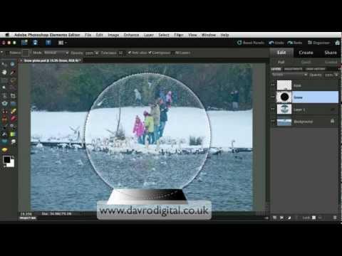 Photoshop Elements Snow Globe video1