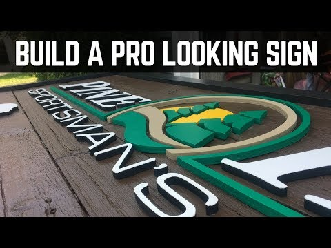 How To Build A Professional Looking Wooden Sign With Raised Letters // Woodworking / DIY