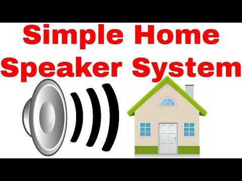 How to install a speaker system in your home