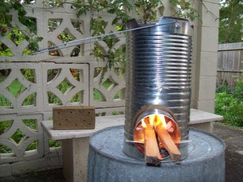 Rocket Stove Easy Build from 5 Tin Cans
