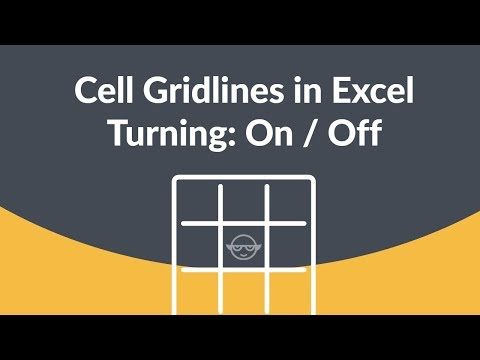 Turn On or Off Cell Gridlines in Excel within few Seconds