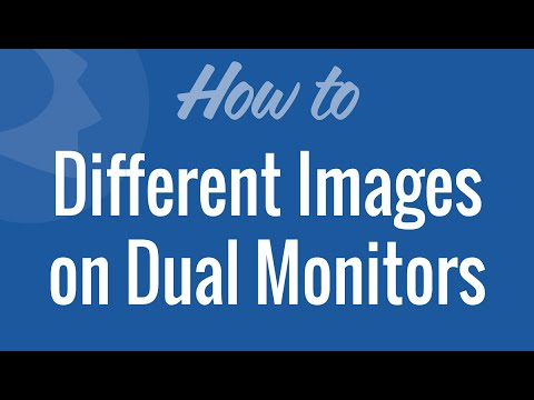 Setup Different Background Images on Dual Monitors