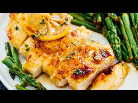 Honey Butter Lemon Chicken with Asparagus