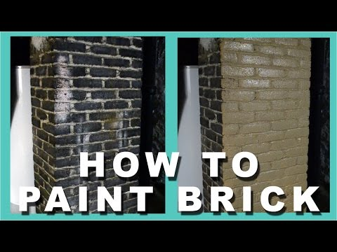 How to paint brick | How to paint a brick chimney