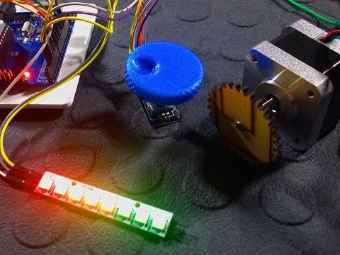 Control a Stepper motor with an Arduino a Rotary Encoder and Easy Driver - Tutorial - Part 3
