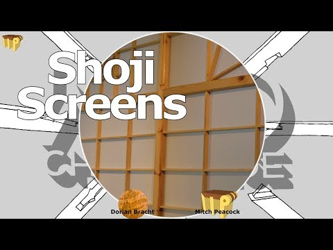 Shoji Screens for my workshop - A 100% Wood Challenge