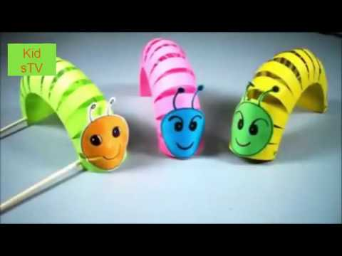 How to make paper toys | fold origami caterpillar | instruct to self-make a paper animal