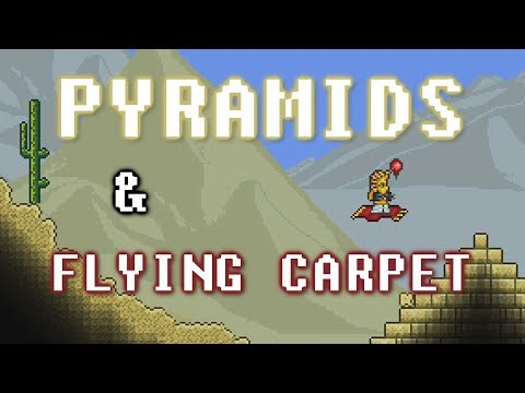 HOW TO FIND A PYRAMID & FLYING CARPET (Terraria Guide / Expert)