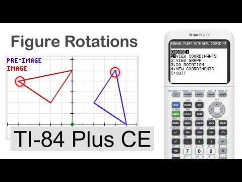 Matrix Rotations of Shapes on TI-84