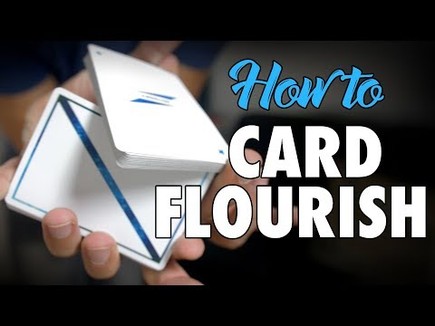 How To Do Easy Card Flourishes Tricks Aerial Combo Tutorial for Beginners