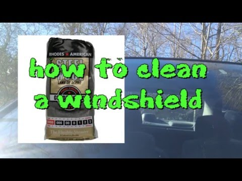using steel wool to remove overspray and deep clean your windshield