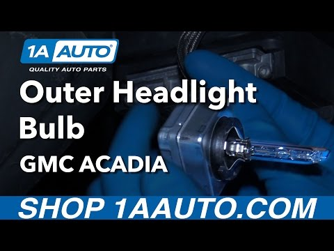 How to Install Replace Outer Hi Low HID Headlight Bulb GMC Acadia Buy Auto Parts at 1AAuto.com