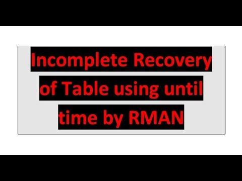 Recovery of Dropped Table using until time by RMAN