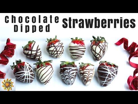 Chocolate Dipped Strawberries 2 Ways | 2 Ways Chocolate Strawberries  | Christmas Special Treat