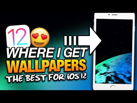 The BEST WALLPAPERS For iOS 12! Where Do I Get iPhone Wallpapers?