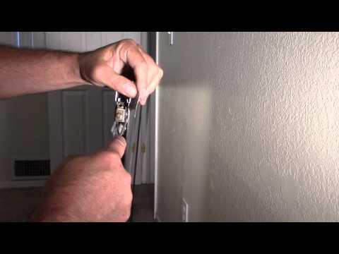 Mirror closet door roller replace