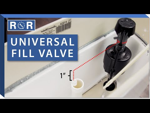 Universal Fill Valve: Repair and Replace (2 Piece Toilet)