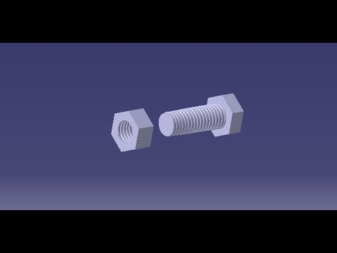 CATIAV5 Beginner tutorial: Learn to design Nut and bolt using Catia V5