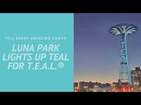 ®T.E.A.L. Lights the Parachute Jump at Luna Park in Coney Island