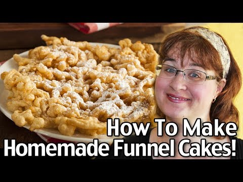 How To Make Homemade Funnel Cakes From Scratch! Easy Funnel Cakes Recipe!