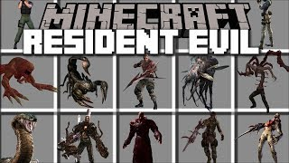 Minecraft RESIDENT EVIL MOD / FIGHT OFF EVIL ZOMBIES AND FLESH EATING HUMANS!! Minecraft