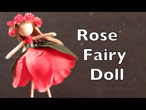 DIY Tutorial On How To Make A Doll With A Rose Dress