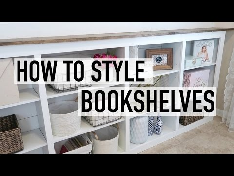 HOW TO STYLE YOUR BOOKSHELVES | VINTAGE & RUSTIC CHIC | DECOR IDEAS