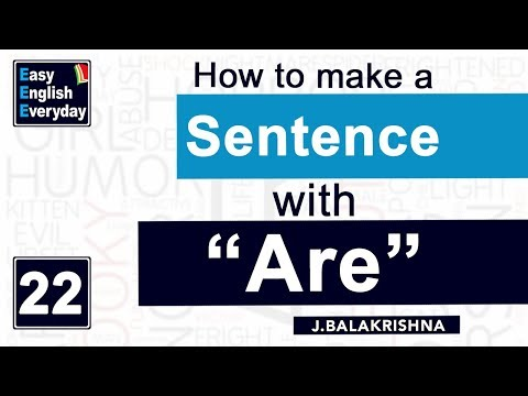 "How to Improve English Grammar | How to make a sentence with ""are""