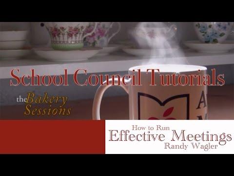 School Council Tutorial  MEETINGS