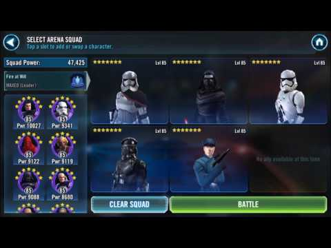 Maxed First Order vs Jedi in Star Wars: Galaxy of Heroes