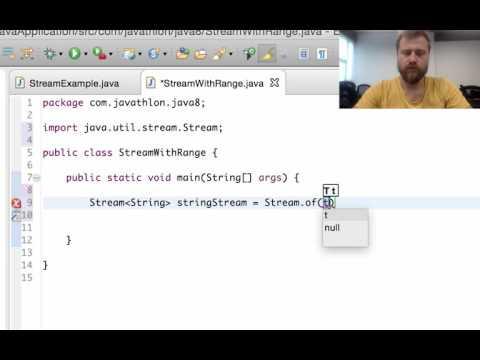 Creating stream with IntRange